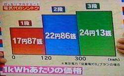 電気料金 1kWhあたりの価格